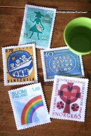 stamp coaster
