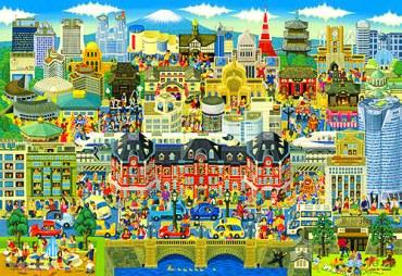 世界最小マイクロ1000ピース ルーペで探せシリーズ 東京名所大集合! M81-501