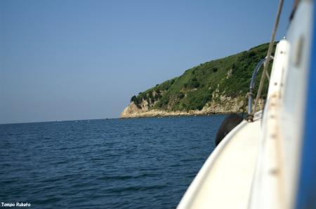 島はすぐそこ。