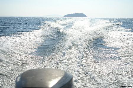 島を後に。