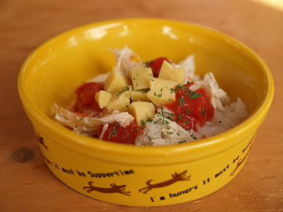 トマトとチーズごはん(s)@paani dog cafe (パアニドッグカフェ)