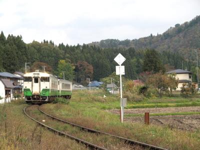 会津西方駅近く