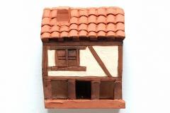 木組みの家の置物(Garganta la Olla)