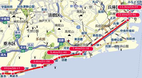 垂水から神戸