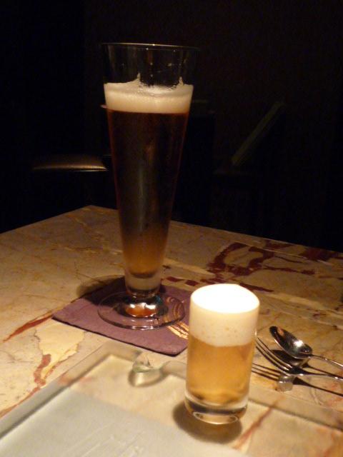 乾杯ビール&ヤクルト泡