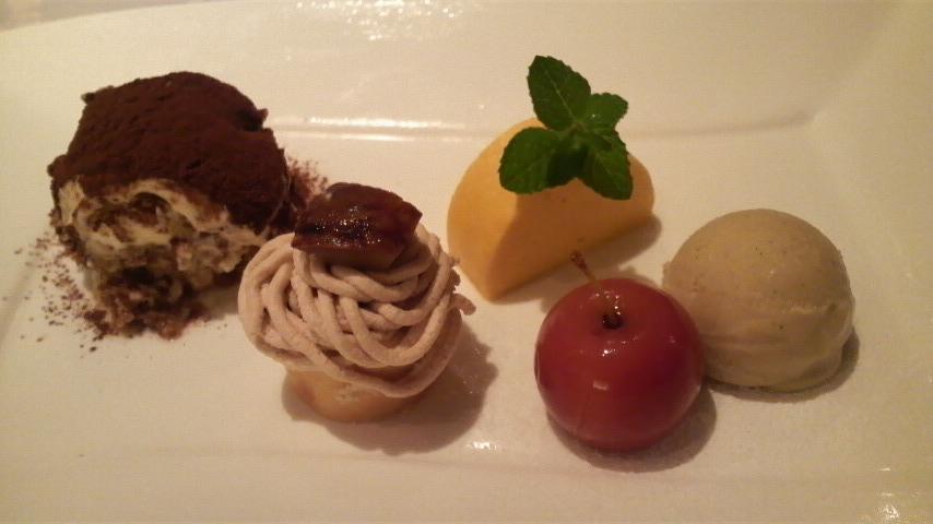 BistoroYama(南瓜ムース、モンブラン、ティラミス、姫りんご、アイス)