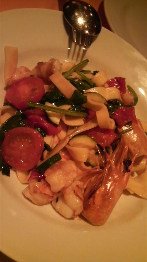PiccoloGrande(車海老と野菜のフェットチーネ)