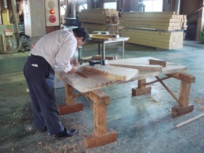 社長のテーブル作り