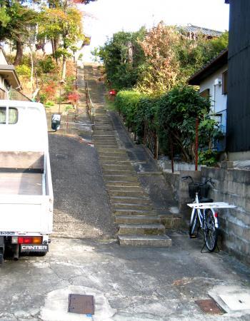 愛知学院近くの田舎っぽい坂
