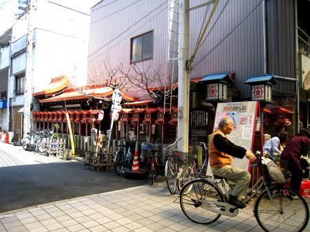 円頓寺商店街の自転車おじさん