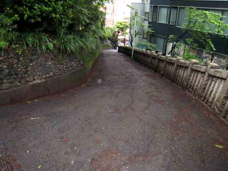 西久保八幡宮脇の坂道