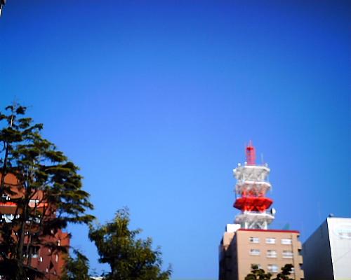 NTTの鉄塔と私の住んでるマンション