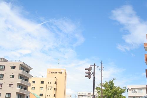 これは8月末の空です