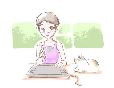 机の上に猫ブログver