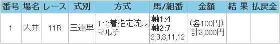 2008.07.31大井11R3連単.JPG
