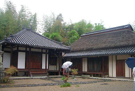 中家の持仏堂と庫裏