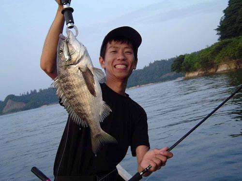 44センチ釣る
