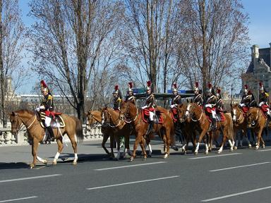 騎馬隊の行進