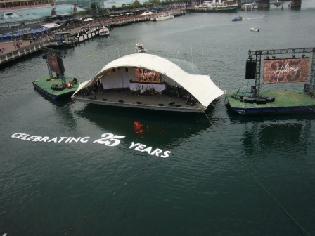 25th anniv stage on the water