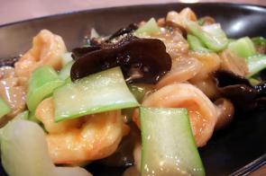 海老と野菜の炒め