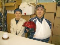 破損ヘルメット3