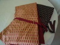 手作りの防空頭巾