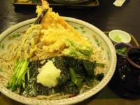 信玄そば 海老と野菜の天ぷらそば