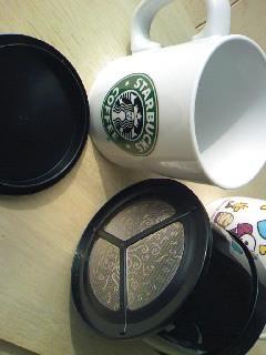 スタバのカップとコーヒーサーバー