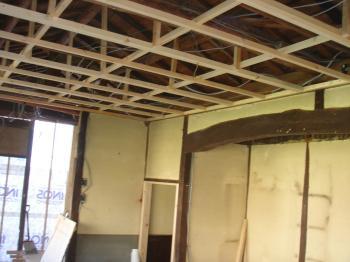 天井も組みなおして