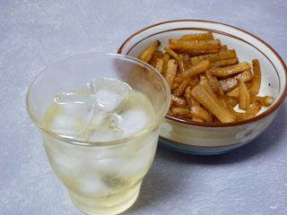 レモン酒(1.5ヵ月)キンピラダイコン