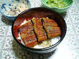 国産鰻で蒲焼丼001