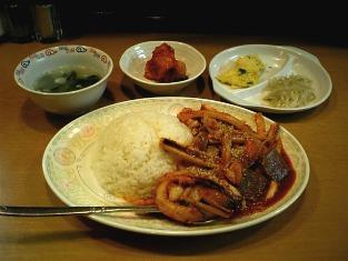 新大久保韓国食堂イカ丼003