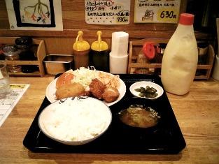 飲食笑商何屋ねこ膳ミックスフライ定食006