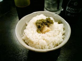 あべちゃんやきとん 絶品わさびラード飯002