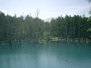 6月10日、青い池。