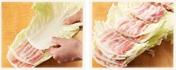 豚バラと白菜の重ね鍋1
