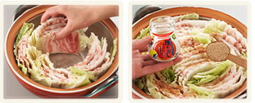 豚バラと白菜の重ね鍋2