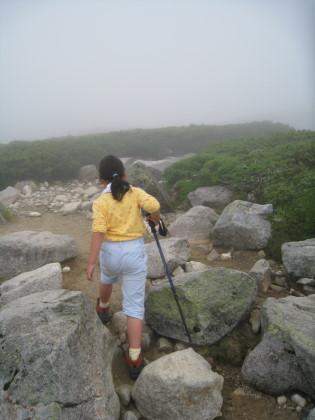 五葉坂を登る