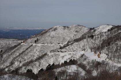 白禿山と林道