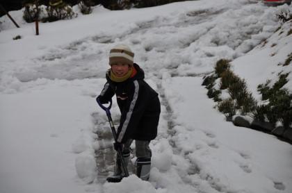 楽しい雪遊び