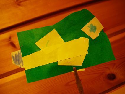 折り紙のヤマメ