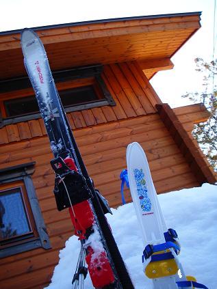 スキーの板 大&小