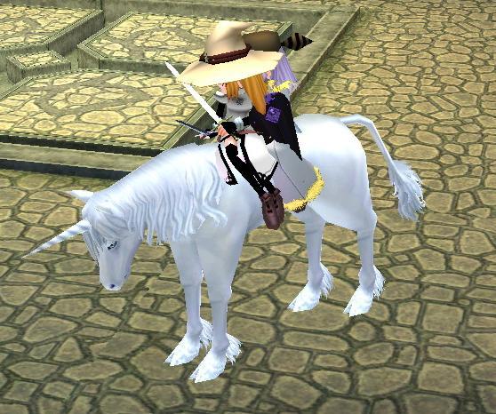 借りた白馬
