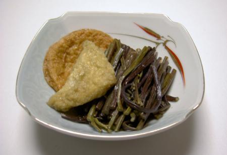 田舎料理 「ワラビの炊き合せ」
