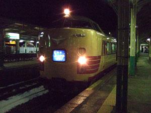 新津駅でムーンライトえちごを降りた