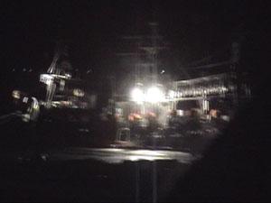 漁港に停泊していた漁船