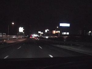 新潟バイパスの3車線区間を女池ICまで走る