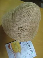 ラフィア風の帽子