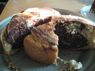 マーブルケーキ断面