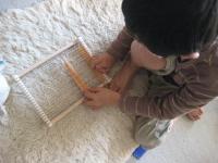 織り機で遊ぶ